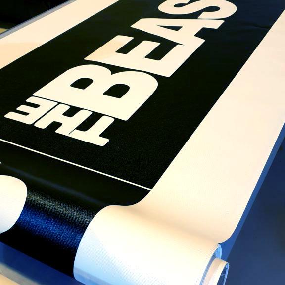 Banner trykket på vinyl