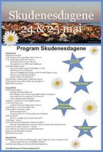 Plakat program Skudenesdagene