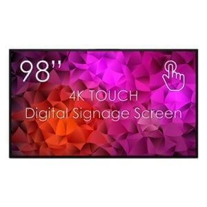 98 tommers digitalskjerm med touch-funksjonalitet
