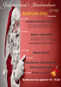 Plakat trykket for julemarkedet i Skudesneshavn